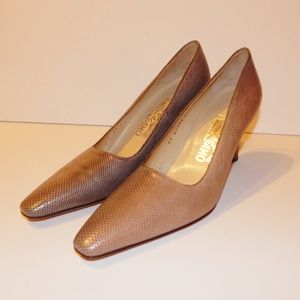 Salvatore Ferragamo Color Gradient Pumps Heels VTG